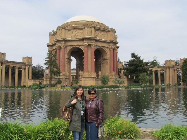 Linda and I at Palace of Fine Arts