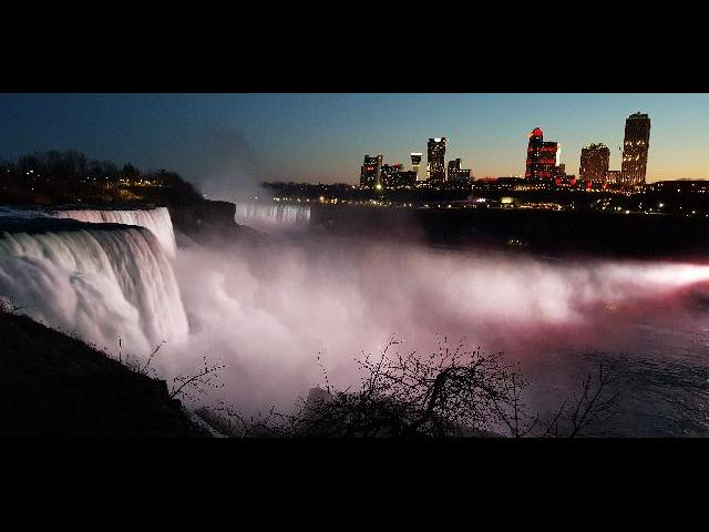 Illumunation of Niagara Falls