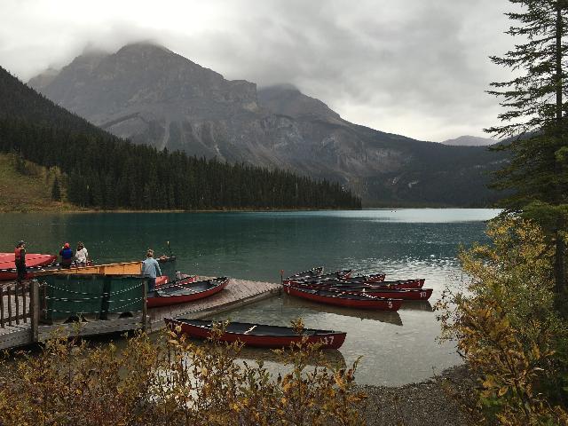 The beautiful Emerald Lake
