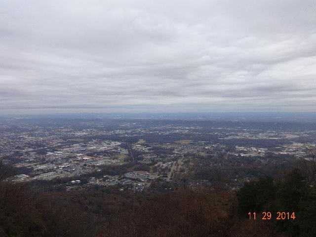 Chattanooga - from the summit. Use incline railway to get this splendid view