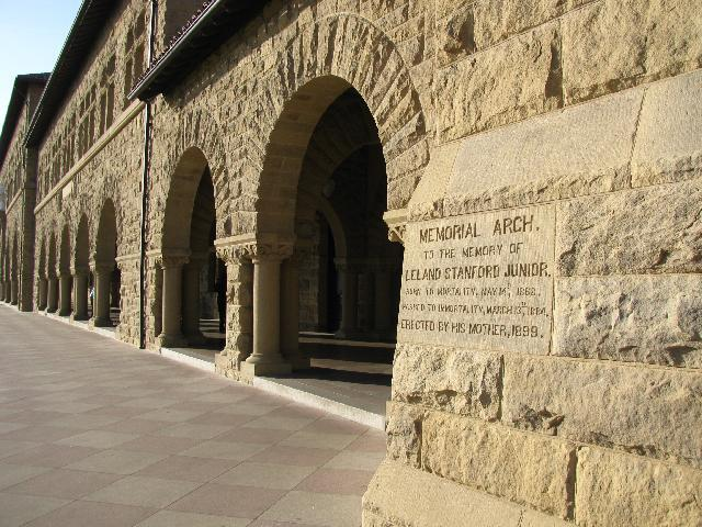 Memorial Arch to the memory of Leland Stanford Jr, Stanford University.