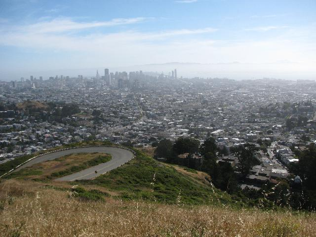 View of San Francisco from Twin Peaks, elevation 925 feet