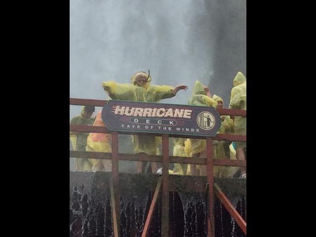 Hurricane in Cave of the Winds below America falls