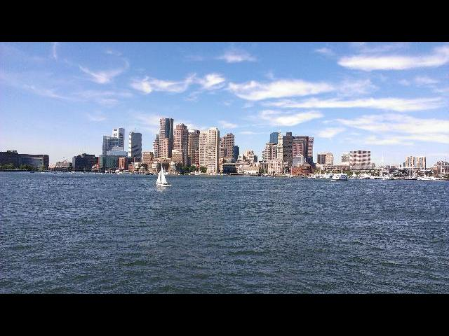Boston Skyline - view from the cruise