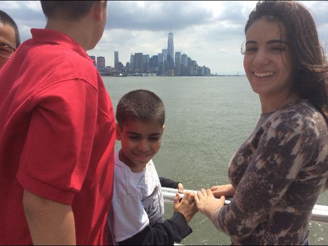boat ride to the Statue of Liberty