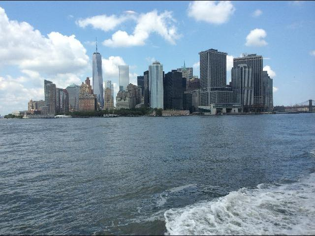 view from boat ride to the Statue of Liberty