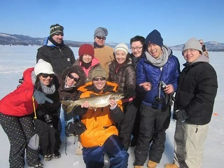 1-Day Lake George Ice-Fishing Tour from New York