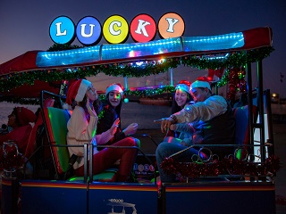 San Francisco Lucky Tuk Tuk Holiday Lights and Sites Tour